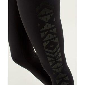 lululemon athletica Pants - Lulu Wunder Under Pants *Print Black Skinny Yoga 6